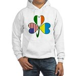 Shamrock of Ukraine Hooded Sweatshirt