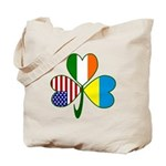 Shamrock of Ukraine Tote Bag