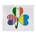 Shamrock of Ukraine Throw Blanket
