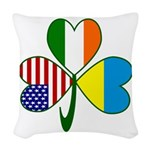 Shamrock of Ukraine Woven Throw Pillow