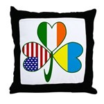 Shamrock of Ukraine Throw Pillow