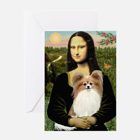 Mona's Papillon Greeting Card