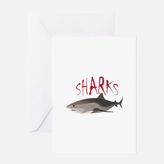Sharks Greeting Cards