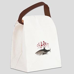 Sharks Canvas Lunch Bag