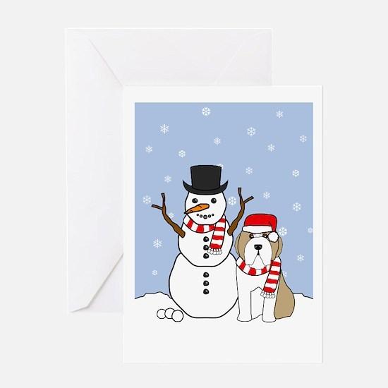 Bearded Collie Season's Best Greeting Card