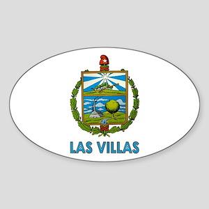 Escudo de Las Villas Oval Sticker