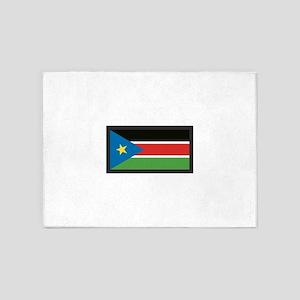 SOUTH SUDAN FLAG 5'x7'Area Rug