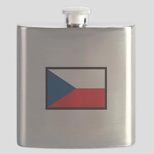 CZECH REPUBLIC FLAG Flask