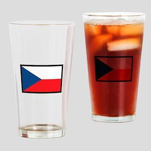 CZECH REPUBLIC FLAG Drinking Glass
