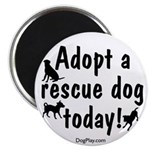 """Adopt a Rescue Dog Today 2.25"""" Magnet (100 pack)"""