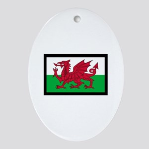 FLAG OF WALES Ornament (Oval)