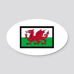 FLAG OF WALES Oval Car Magnet