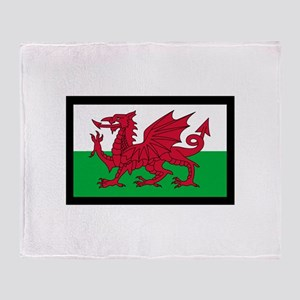 FLAG OF WALES Throw Blanket