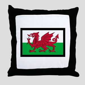 FLAG OF WALES Throw Pillow