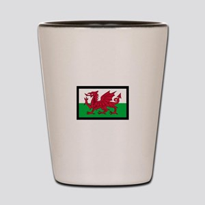 FLAG OF WALES Shot Glass