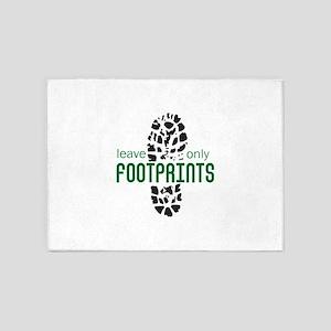 Foot Prints 5'x7'Area Rug