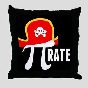 Pi-Rate Throw Pillow