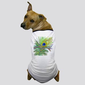 PAINTED PEACOCK FEATHER S2 Dog T-Shirt