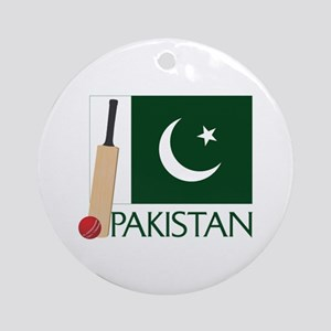 Pakistan Cricket Ornament (Round)