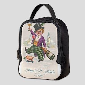Vintage Happy St. Patrick's Day Neoprene Lunch Bag