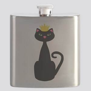 Black Cat With a Crown Flask