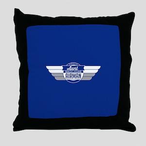Proud Aunt Of an Airman Throw Pillow