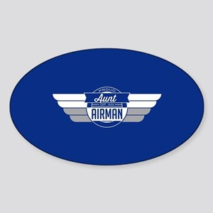 Proud Aunt Of an Airman Sticker (Oval)