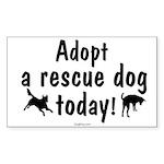 Adopt a Rescue Dog Today Sticker (Rectangle)
