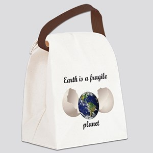 Earth is a fragile planet Canvas Lunch Bag