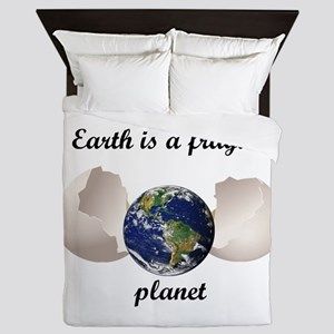Earth is a fragile planet Queen Duvet
