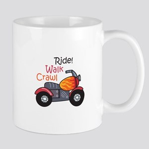 CRAWL WALK RIDE Mugs