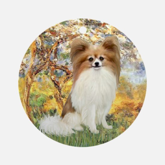 Spring / Papillon Ornament (Round)