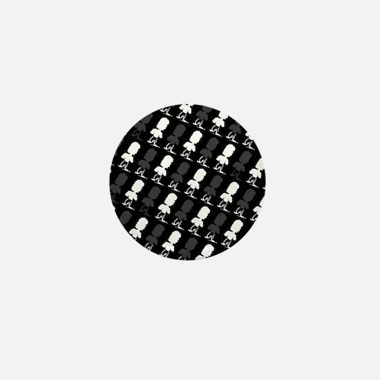 Black & White Hues Marvin's Fave Mini Button
