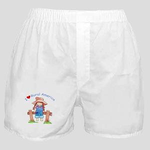 I LOVE RURAL AMERICA Boxer Shorts