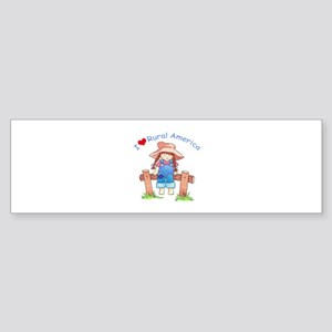 I LOVE RURAL AMERICA Bumper Sticker