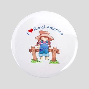 "I LOVE RURAL AMERICA 3.5"" Button"