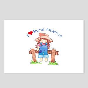 I LOVE RURAL AMERICA Postcards (Package of 8)