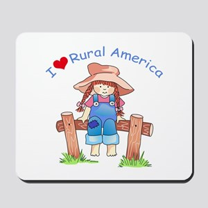 I LOVE RURAL AMERICA Mousepad