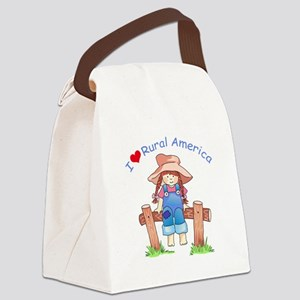 I LOVE RURAL AMERICA Canvas Lunch Bag