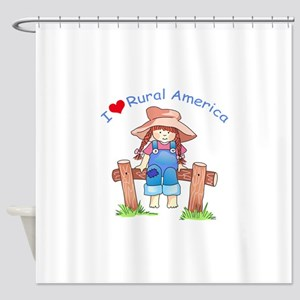 I LOVE RURAL AMERICA Shower Curtain