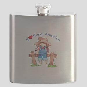 I LOVE RURAL AMERICA Flask