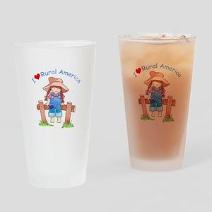 I LOVE RURAL AMERICA Drinking Glass