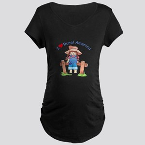 I LOVE RURAL AMERICA Maternity T-Shirt