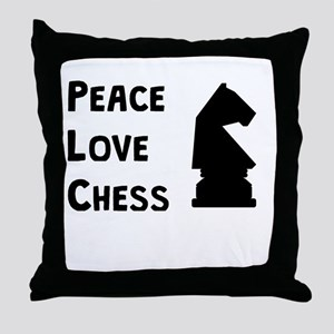 Peace Love Chess Throw Pillow