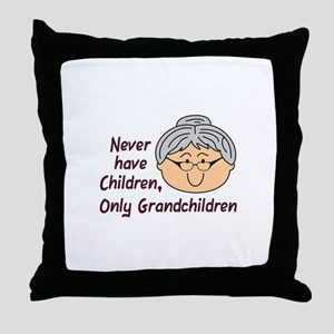 NEVER HAVE CHILDREN Throw Pillow