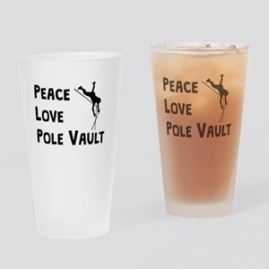 Peace Love Pole Vault Drinking Glass