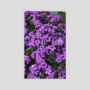 Purple Flowers Area Rug