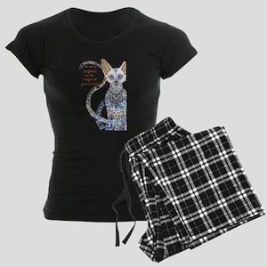 egyptian cat Women's Dark Pajamas
