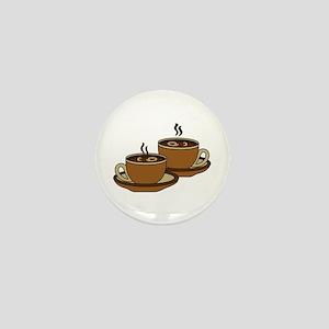 TWO COFFEE CUPS Mini Button