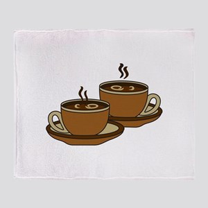 TWO COFFEE CUPS Throw Blanket